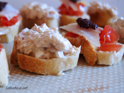 Paté de carxofa i nyàmera i altres aperitius per Cap d'Any